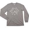 POLER Tent Pocket - Camiseta de manga larga Hombre - gris